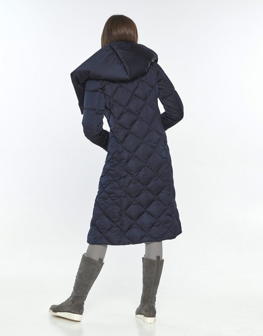 Синяя длинная куртка подростковая Wild Club 594-37 фото 3