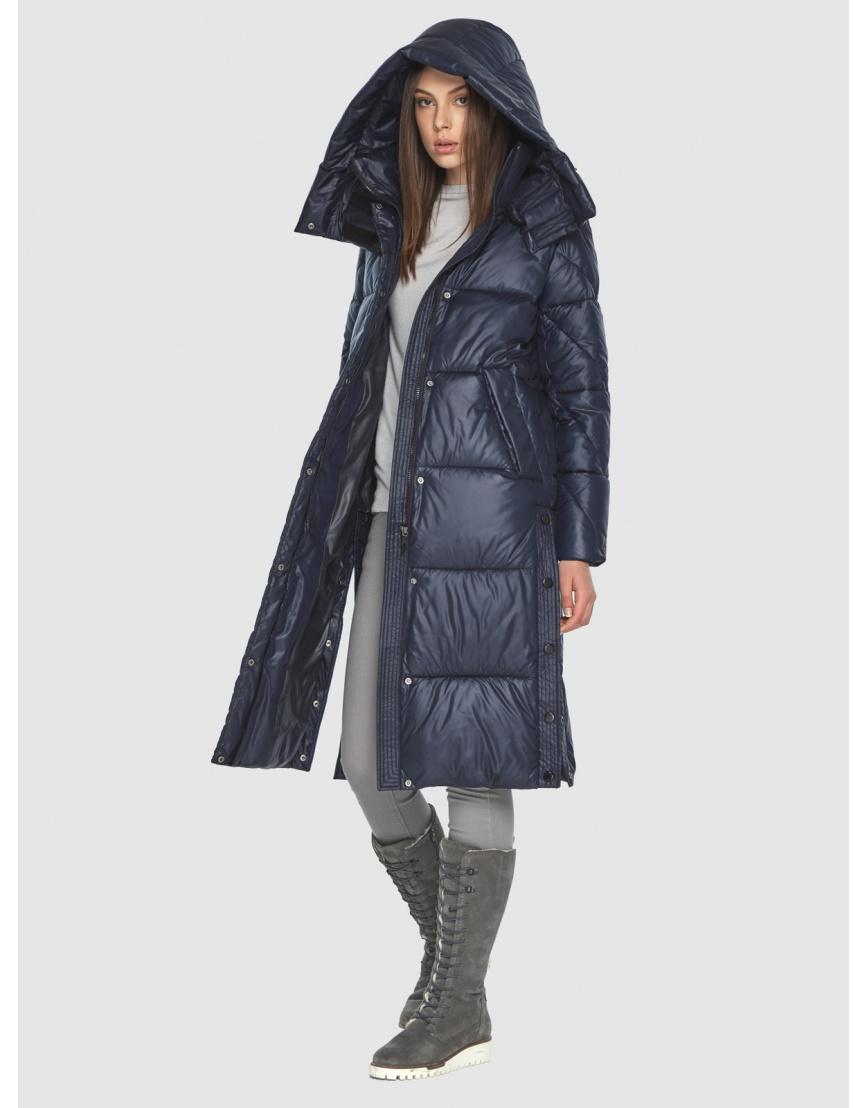 Тёплая куртка женская Wild Club синяя 534-23 фото 2