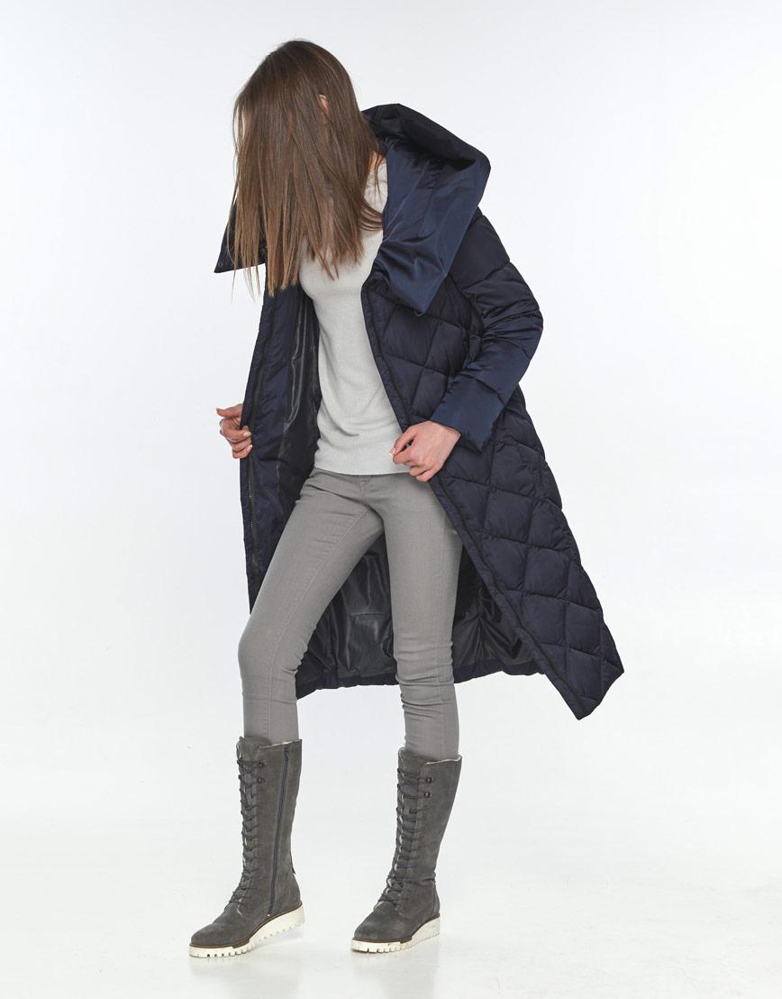 Синяя длинная куртка подростковая Wild Club 594-37 фото 2