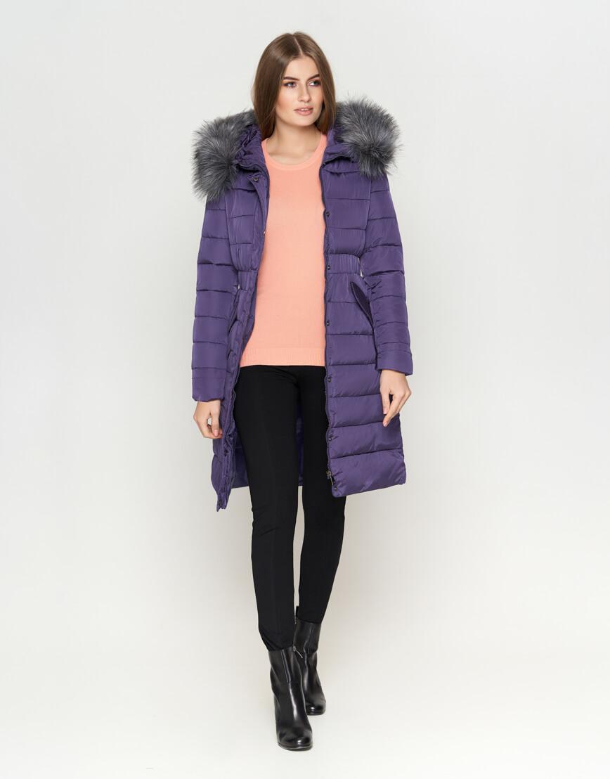 Фиолетовая куртка комфортная женская модель 8606 фото 2