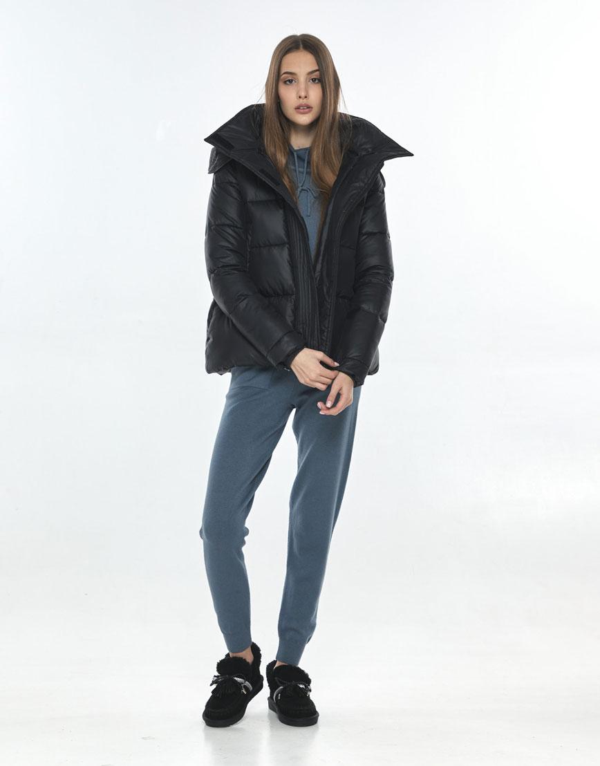 Куртка осенняя женская Vivacana удобная чёрная 9742/21 фото 2