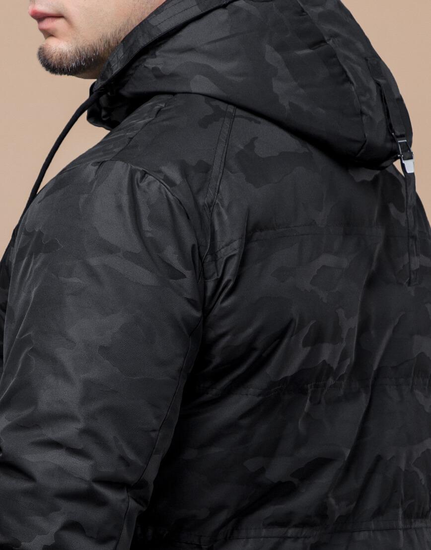 Черная трендовая подростковая дизайнерская куртка 25020 оптом фото 7