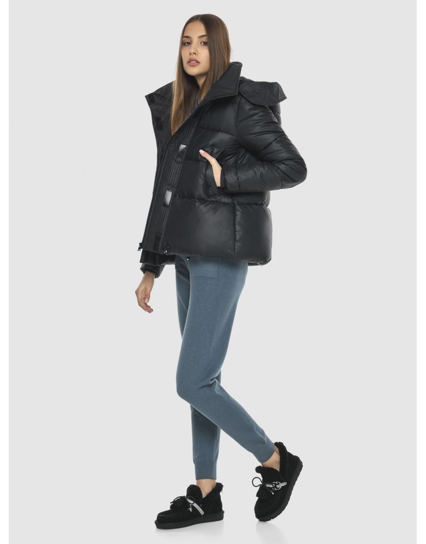 Куртка брендовая чёрная женская Vivacana 9742/21 фото 5