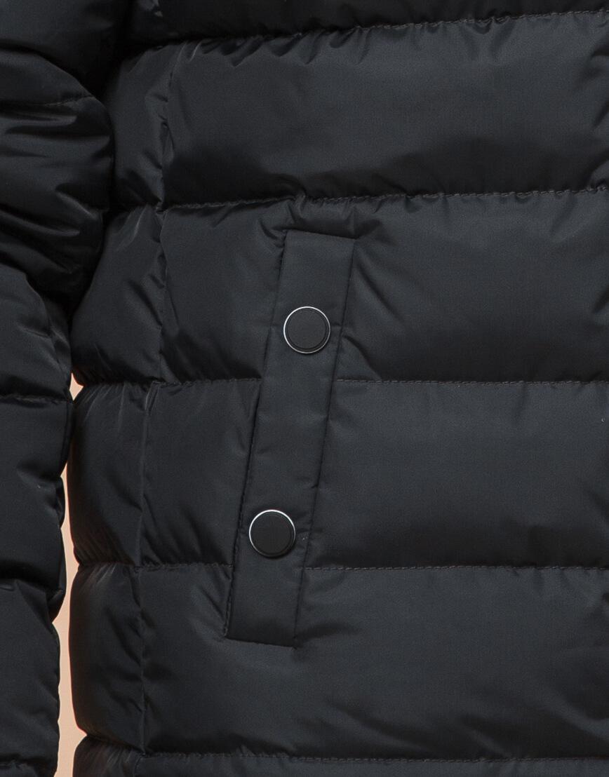Стильная подростковая куртка графитового цвета модель 76025 фото 6