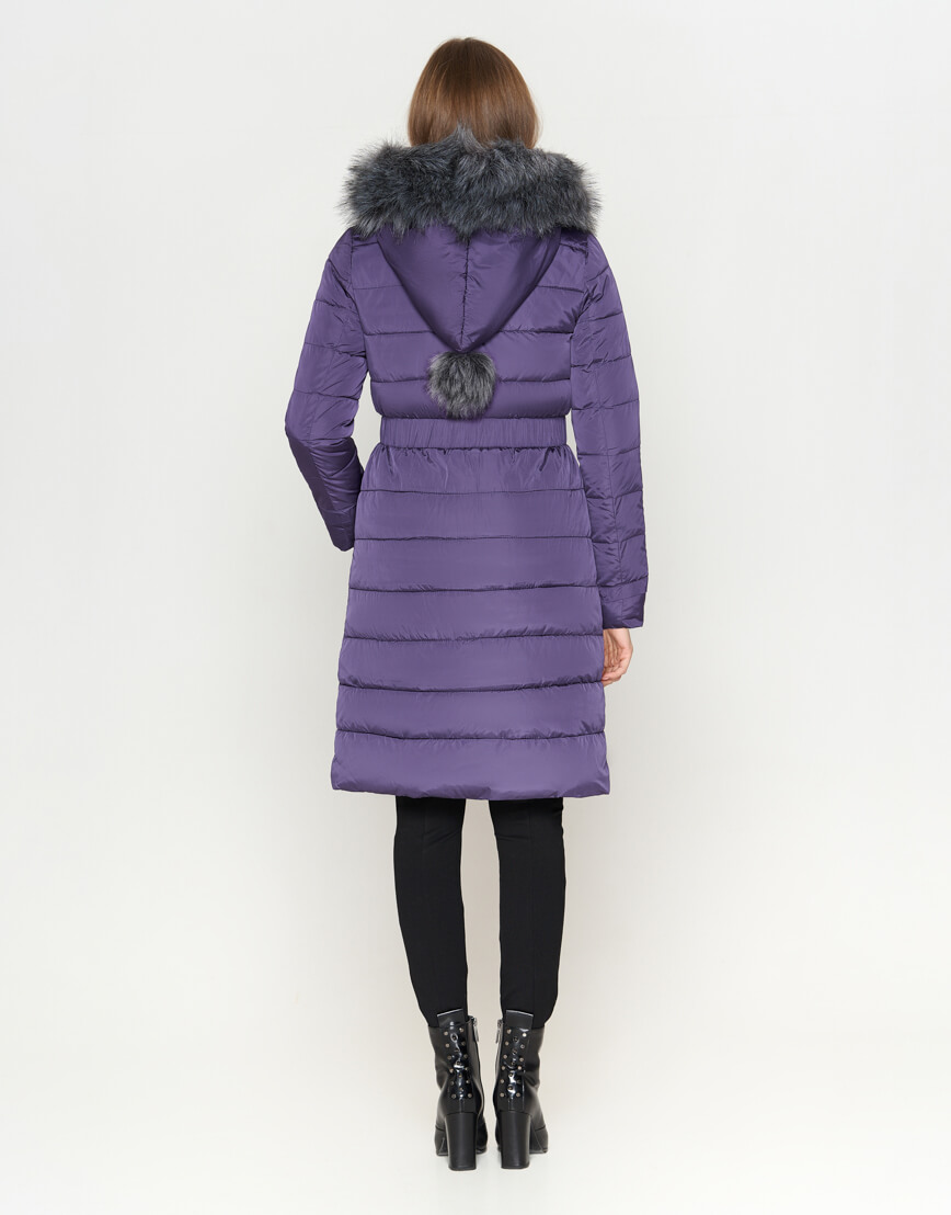 Фиолетовая куртка комфортная женская модель 8606 фото 4