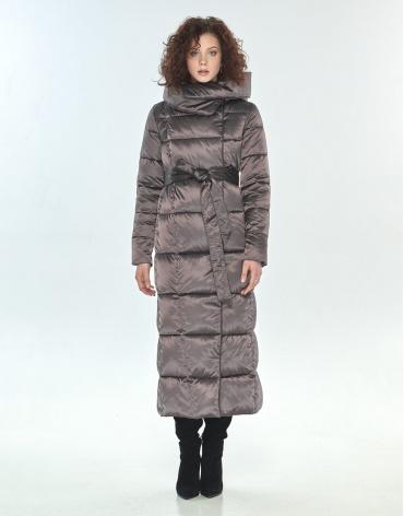 Капучиновая длинная куртка Moc женская M6321 фото 1