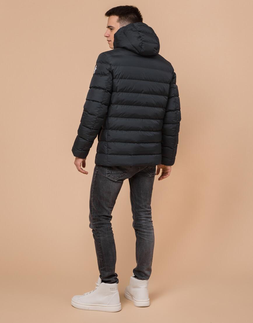Стильная подростковая куртка графитового цвета модель 76025 фото 4
