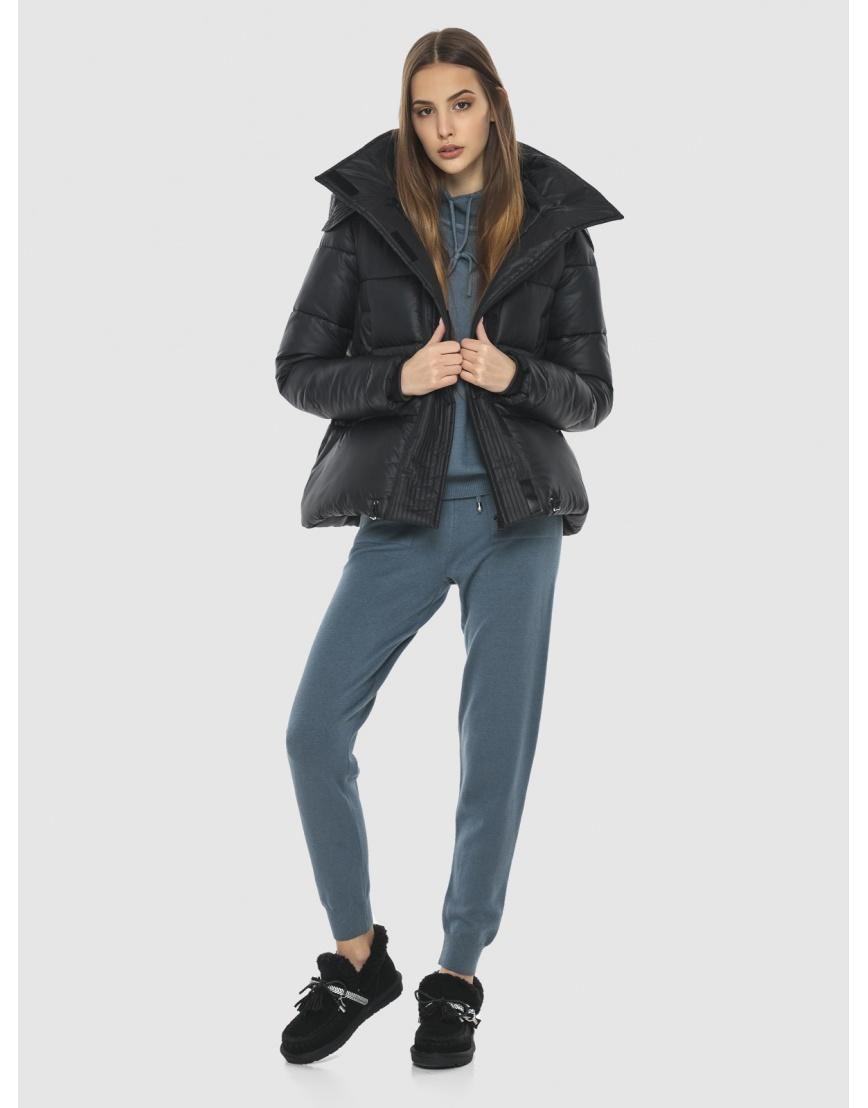 Куртка брендовая чёрная женская Vivacana 9742/21 фото 2