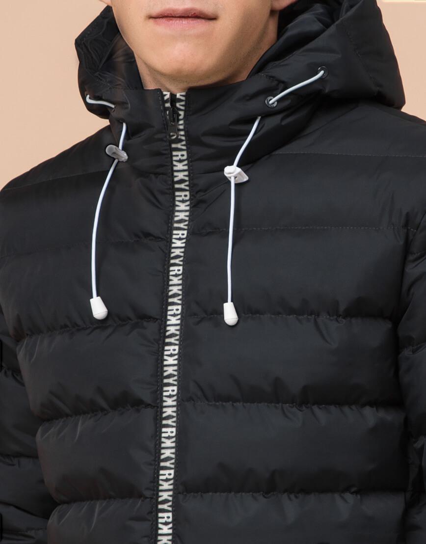 Стильная подростковая куртка графитового цвета модель 76025 фото 5