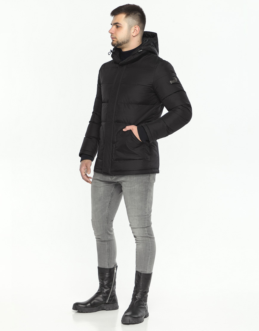 Куртка черная на зиму для мужчин модель 27544 оптом