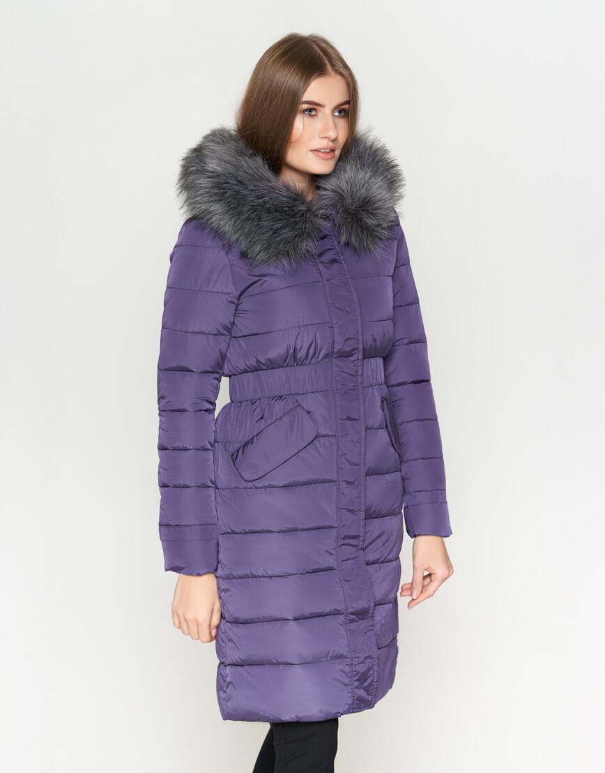 Фиолетовая куртка комфортная женская модель 8606 фото 3