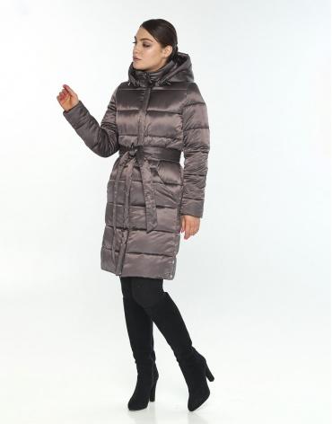 Брендовая женская куртка большого размера Wild Club капучиновая 584-52 фото 1