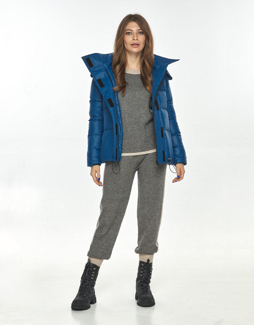 Удобная короткая куртка женская Ajento синяя 23952 фото 2