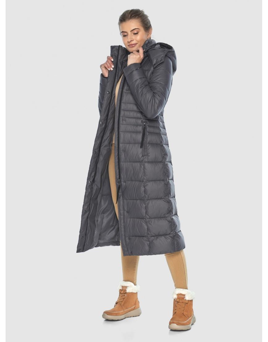 Стильная куртка Ajento серая женская 21375 фото 3