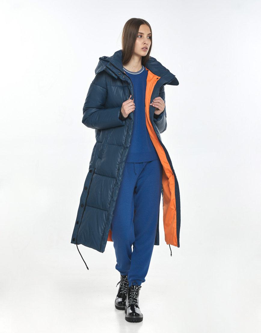 Фирменная зимняя куртка Vivacana синяя подростковая 7654/21 фото 2