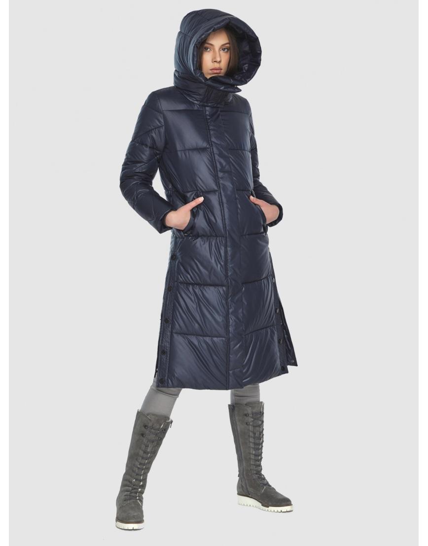 Тёплая куртка женская Wild Club синяя 534-23 фото 4