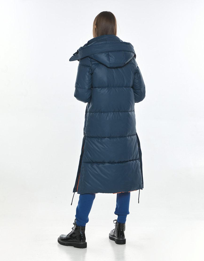 Фирменная зимняя куртка Vivacana синяя подростковая 7654/21 фото 3