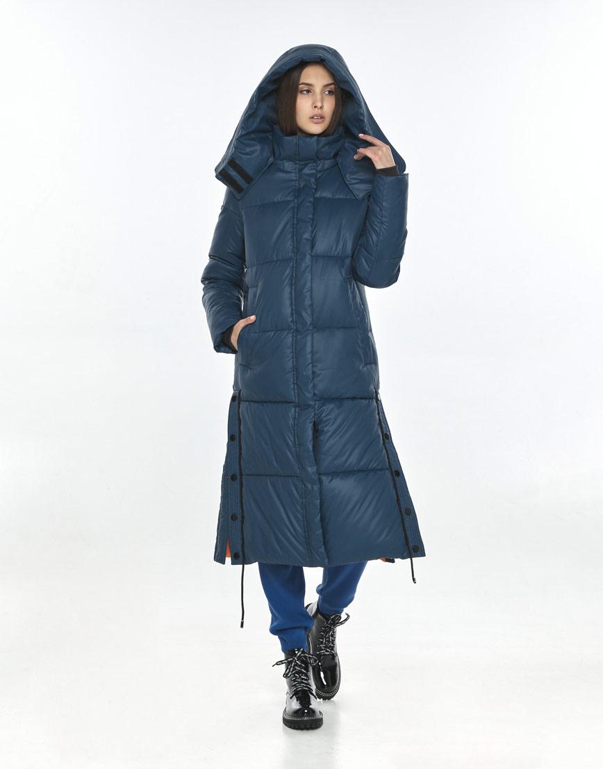 Фирменная зимняя куртка Vivacana синяя подростковая 7654/21 фото 1