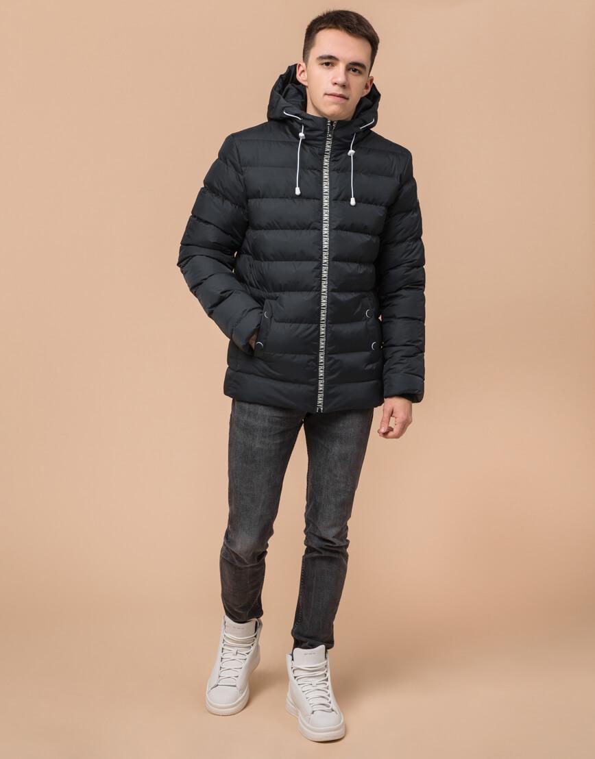 Стильная подростковая куртка графитового цвета модель 76025 фото 3