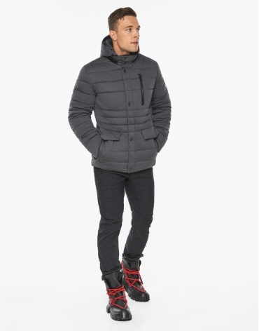 Воздуховик модный Braggart мужской зимний цвет мокрый асфальт модель 15078 фото 1