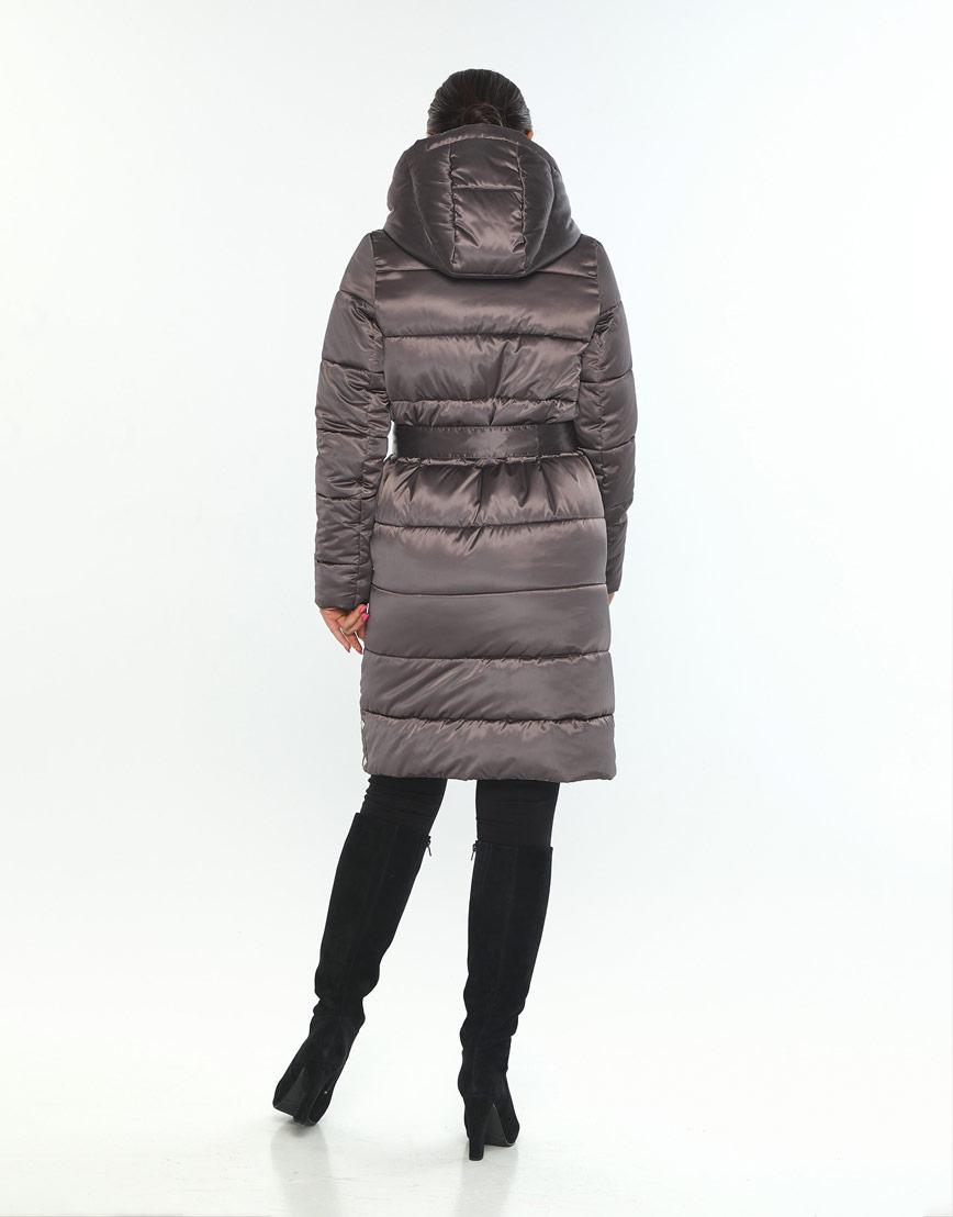 Брендовая женская куртка большого размера Wild Club капучиновая 584-52 фото 3
