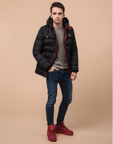 Фабричная черная подростковая куртка модель 75263 фото 1