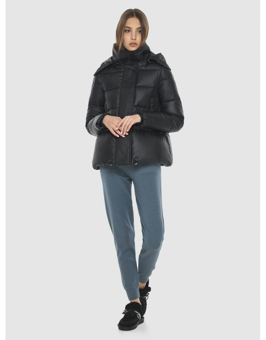Куртка брендовая чёрная женская Vivacana 9742/21 фото 3