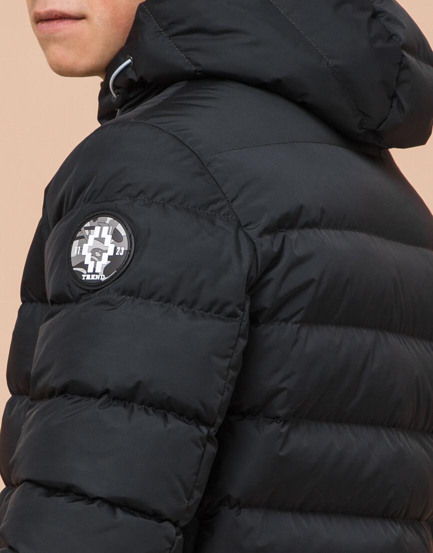 Стильная подростковая куртка графитового цвета модель 76025 фото 7
