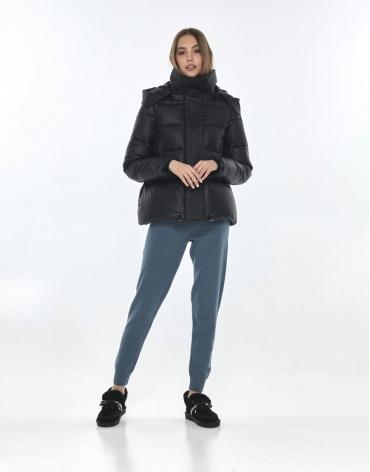 Куртка осенняя женская Vivacana удобная чёрная 9742/21 фото 1
