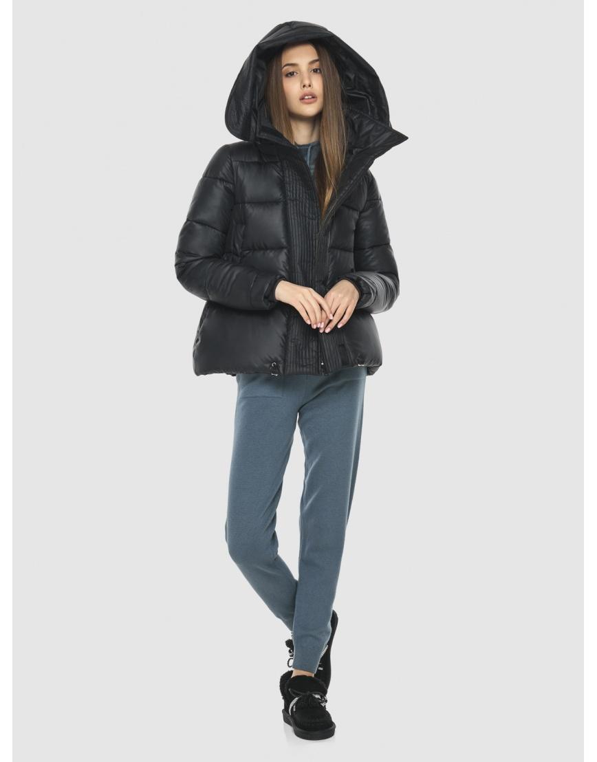 Куртка брендовая чёрная женская Vivacana 9742/21 фото 6