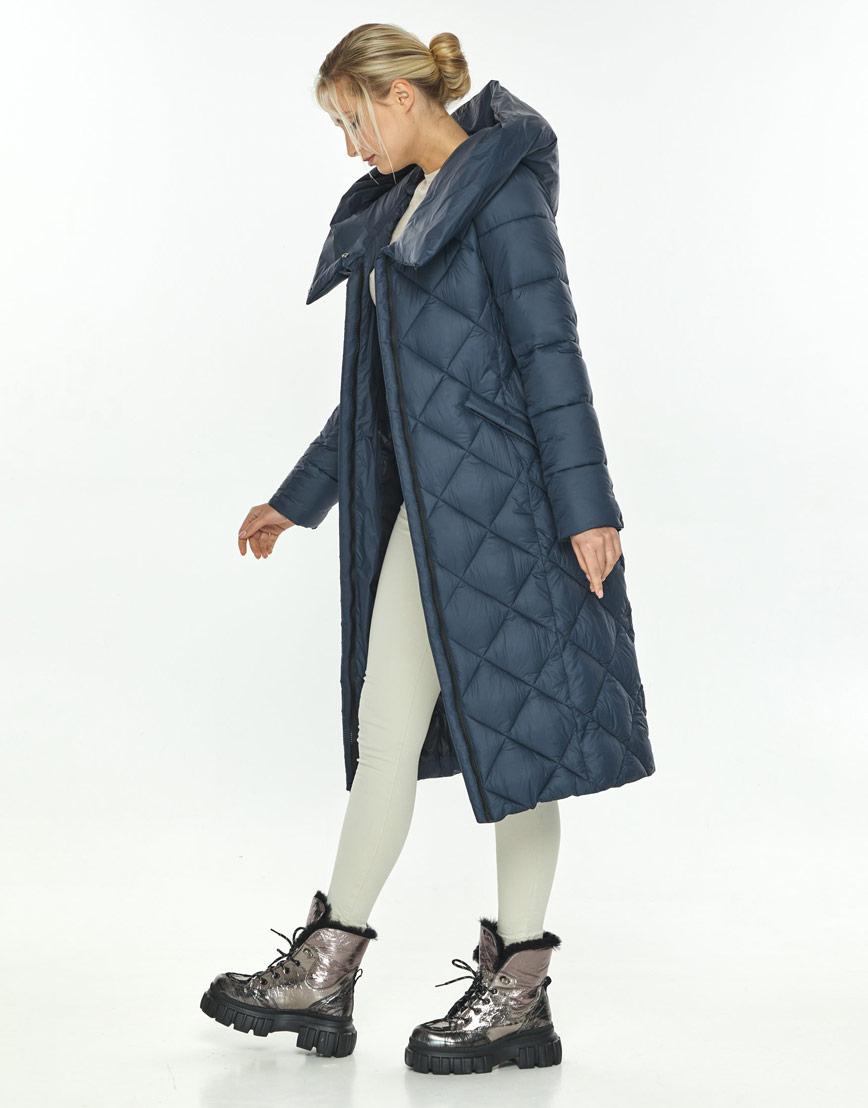 Женская синяя модная куртка на зиму Kiro Tokao 60074 фото 2