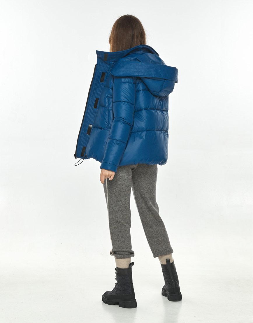 Удобная короткая куртка женская Ajento синяя 23952 фото 3