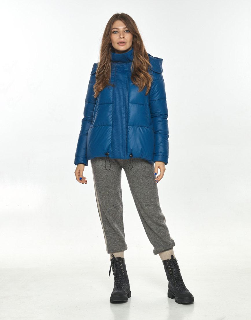 Удобная короткая куртка женская Ajento синяя 23952 фото 1