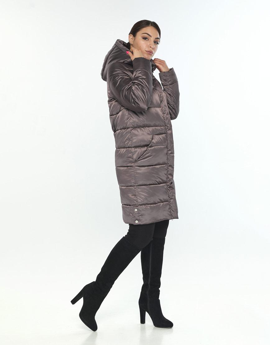 Брендовая женская куртка большого размера Wild Club капучиновая 584-52 фото 2