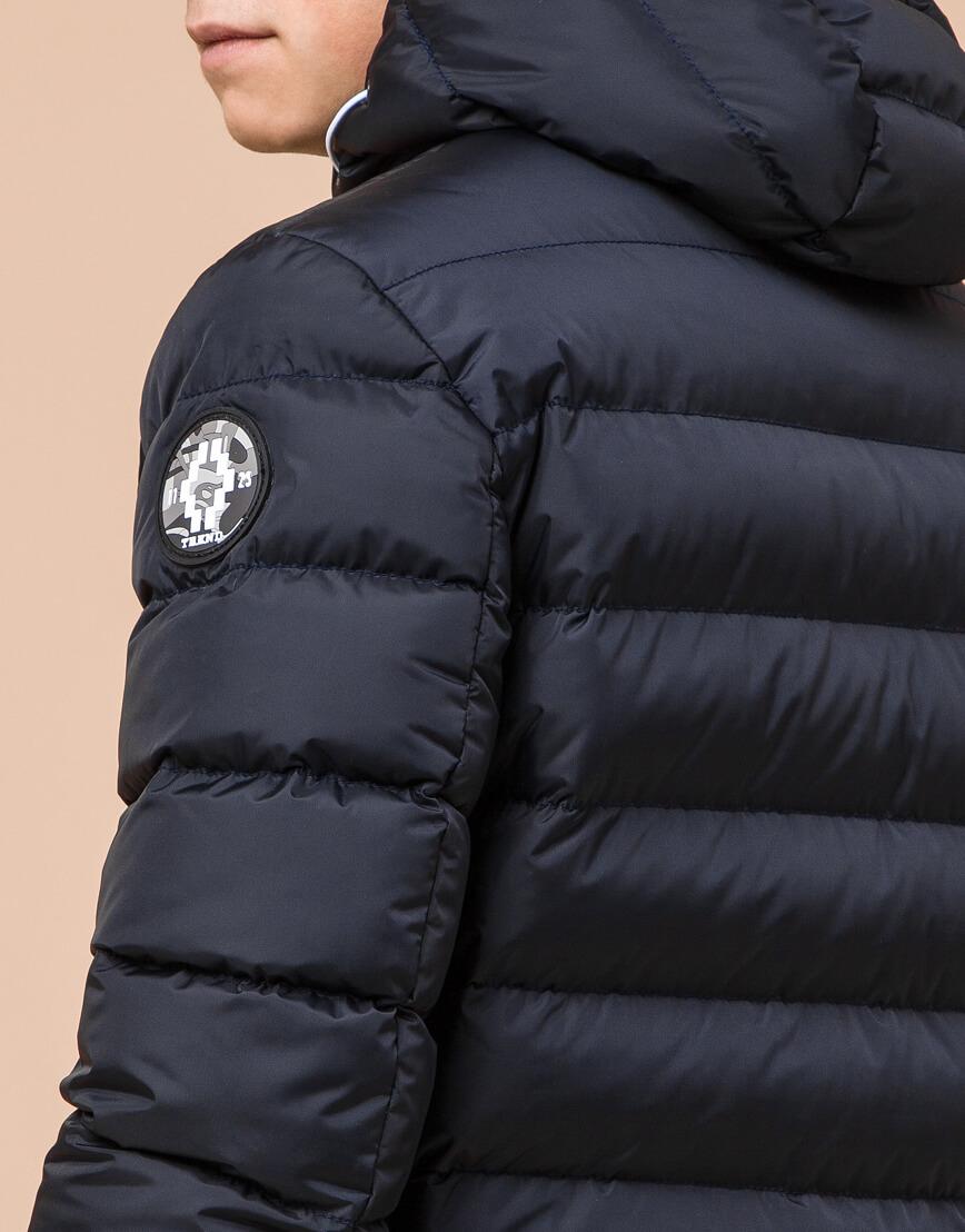 Сине-черная куртка подростковая качественного пошива модель 76025 фото 7