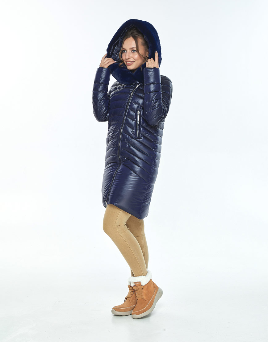 Куртка Ajento свободного фасона женская синяя 24138 фото 2