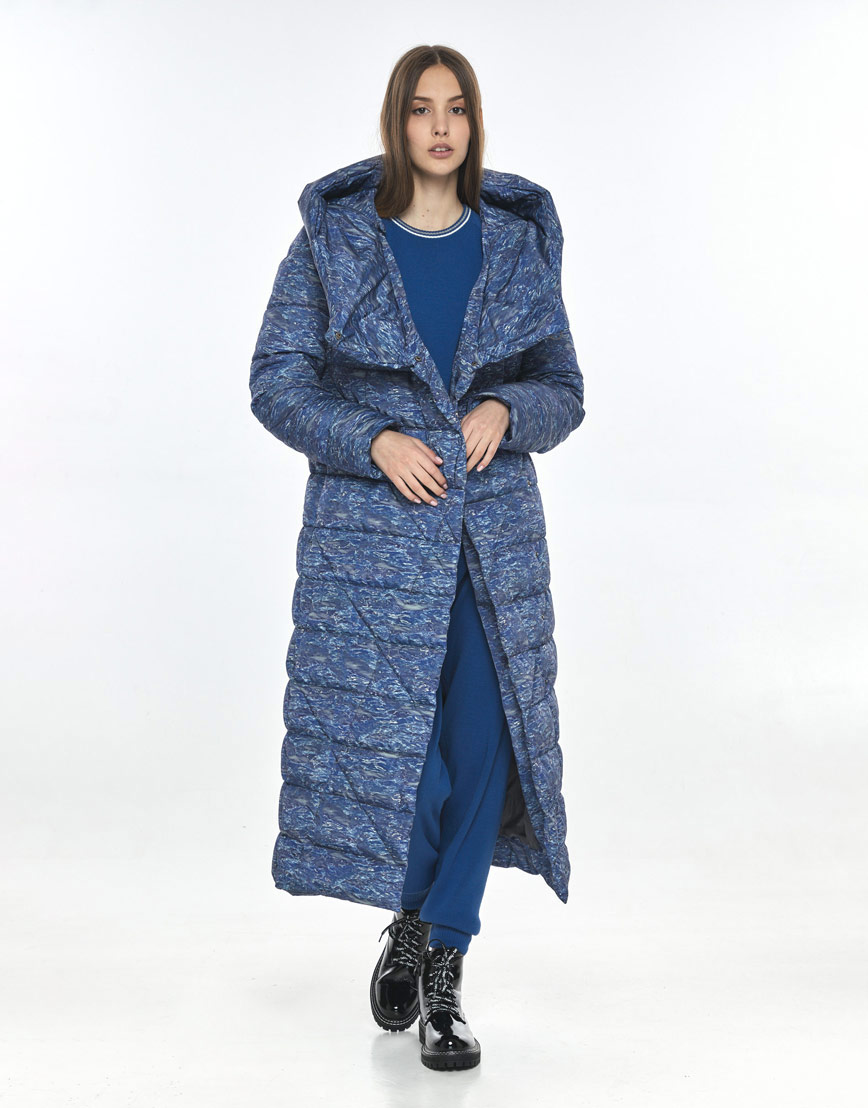Удобная куртка с рисунком женская Vivacana зимняя 9470/21 фото 2