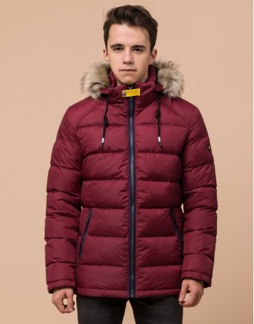 Подростковая куртка бордовая модель 73563