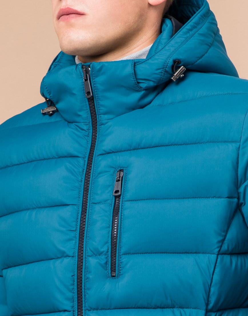 Мужская бирюзовая зимняя куртка модель 36450 оптом