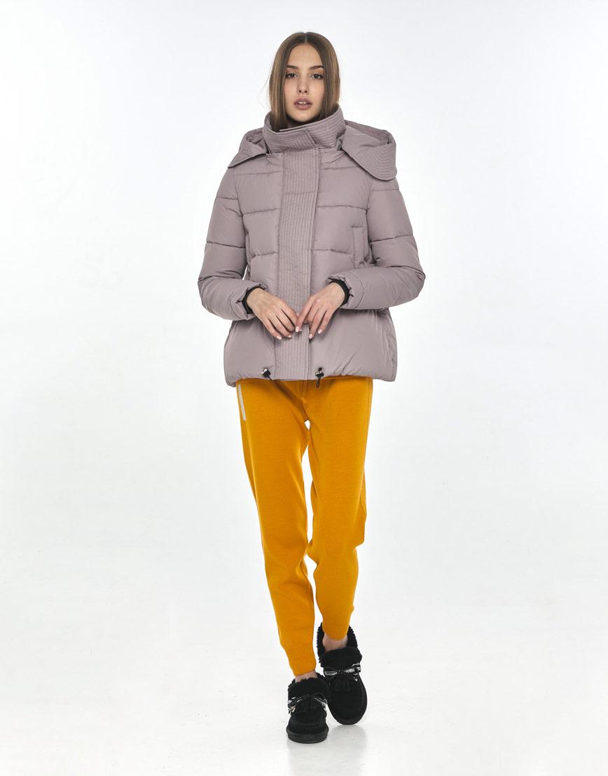 Осенняя женская практичная куртка Vivacana пудровая 9742/21 фото 1