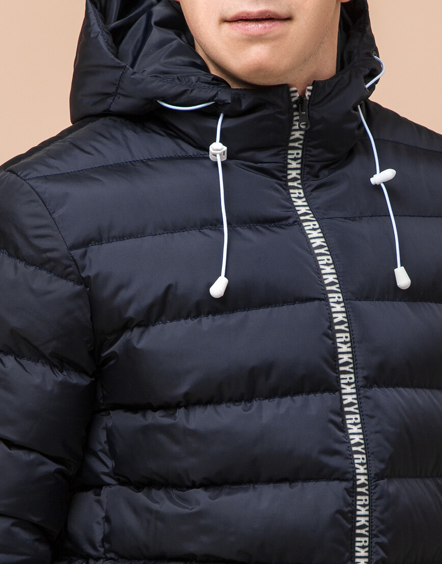 Сине-черная куртка подростковая качественного пошива модель 76025 фото 5