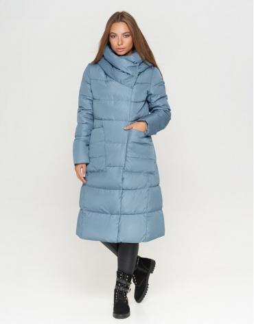 Голубая женская куртка модная модель 8438