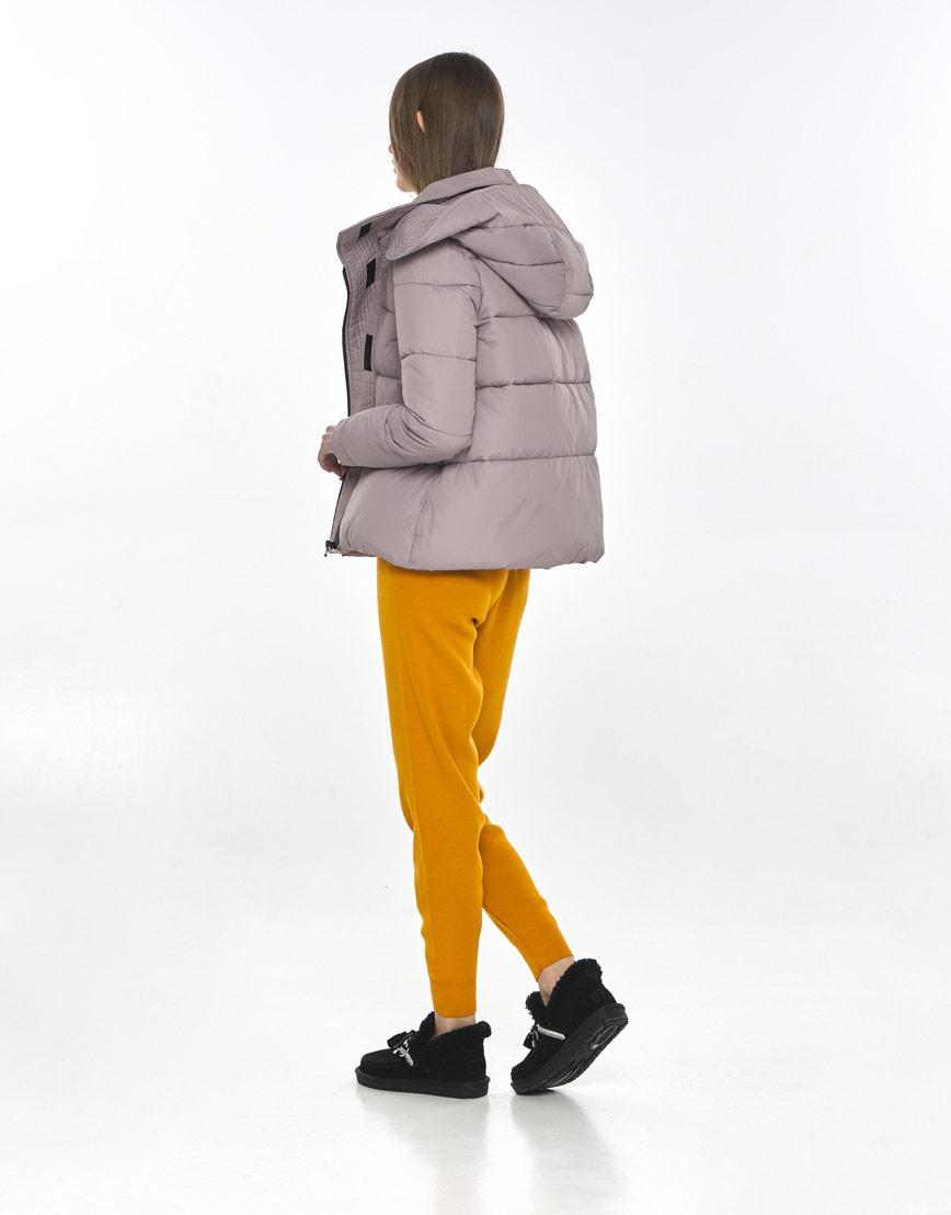 Осенняя женская практичная куртка Vivacana пудровая 9742/21 фото 3