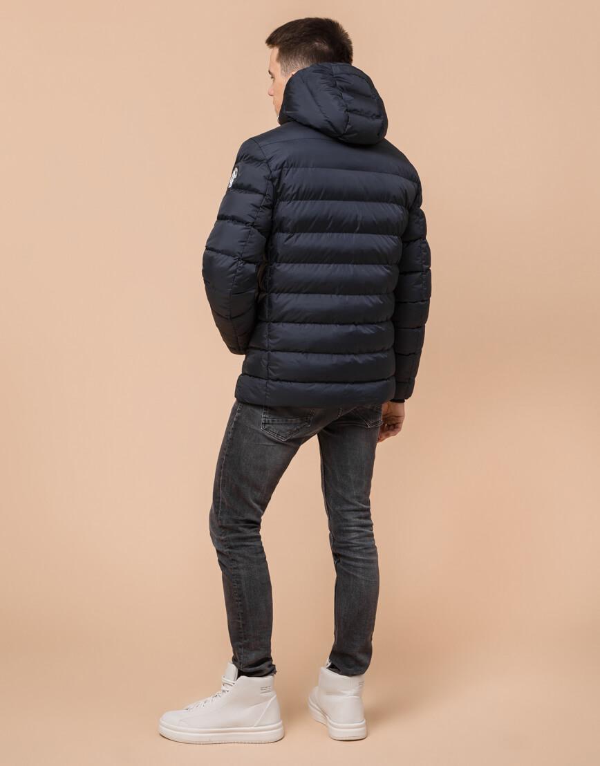 Сине-черная куртка подростковая качественного пошива модель 76025 фото 4