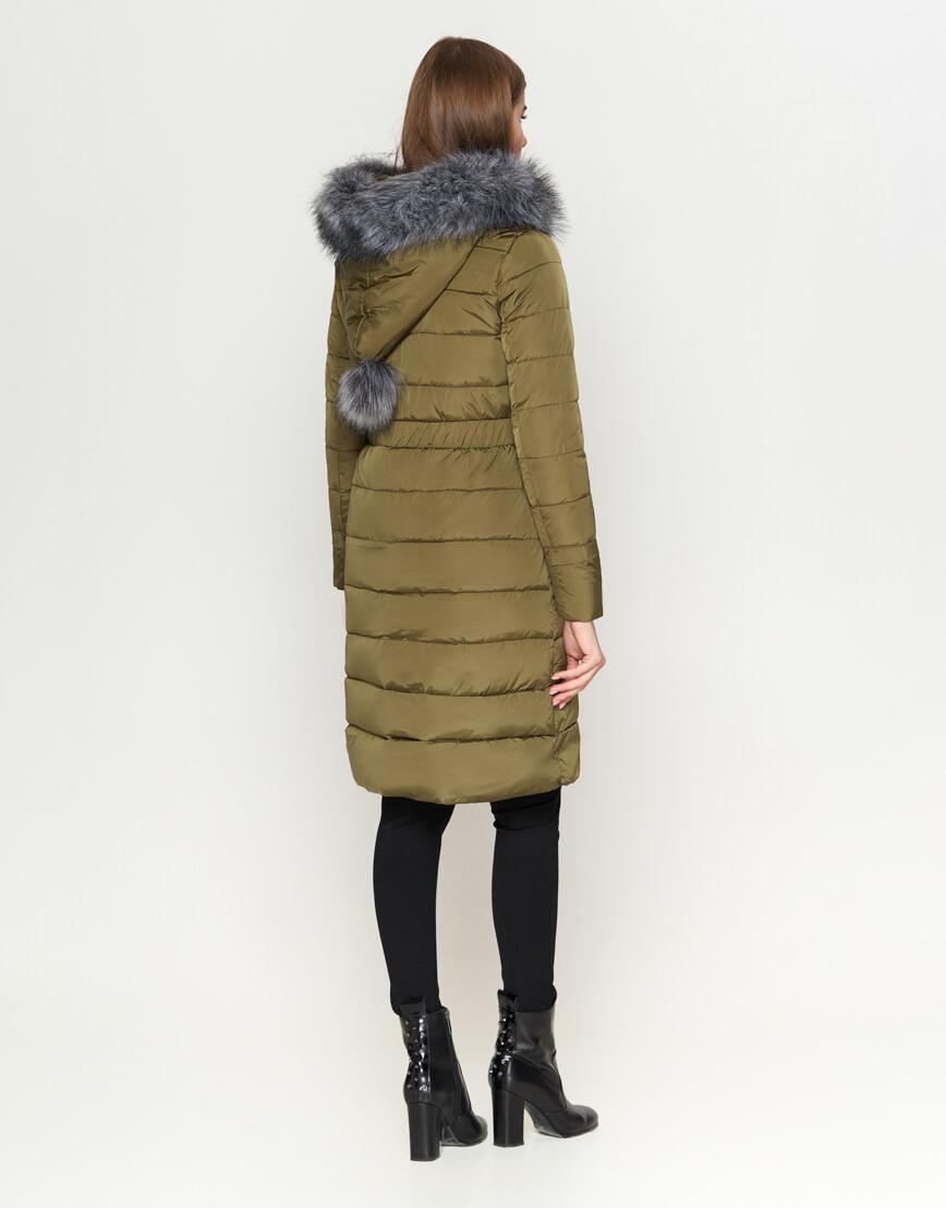 Оригинальная куртка женская цвета хаки модель 8606 фото 4