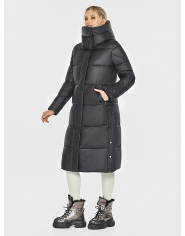 Чёрная стёганая куртка женская Kiro Tokao 60024 фото 1