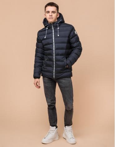 Сине-черная куртка подростковая качественного пошива модель 76025 фото 1