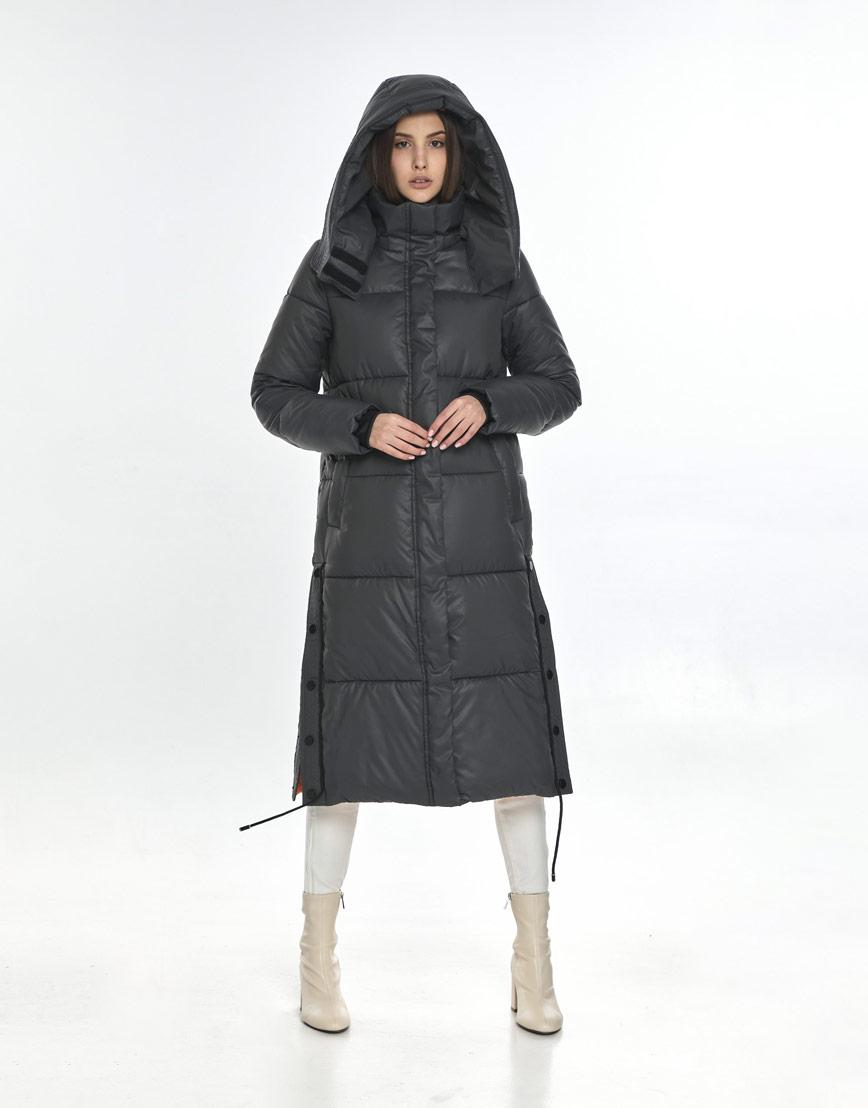 Серая зимняя куртка Vivacana фирменная для девушки подростковая 7654/21 фото 1