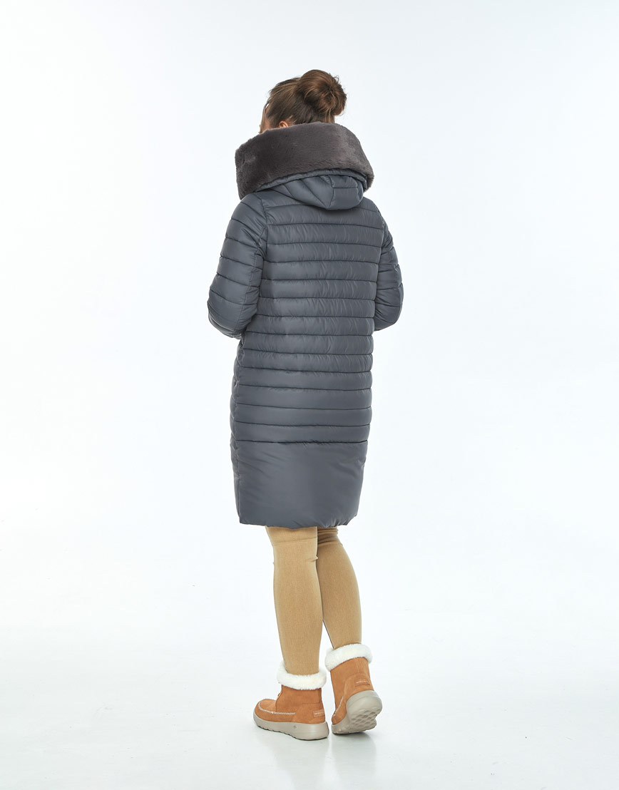 Серая куртка Ajento женская с карманами 24138 фото 3