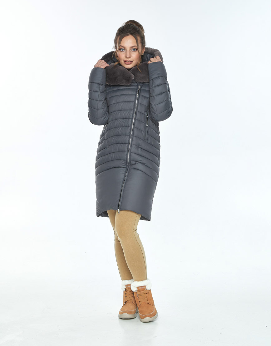Серая куртка Ajento женская с карманами 24138 фото 1
